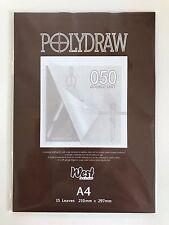 West Design Polydraw 050 Double Matt A4 Pad (15 Sheets)