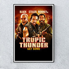Tropic Thunder Comedy Film Movie Glossy Print Wall A4 Poster