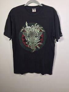 Crooks & Castles Men's Black Medusa Graphic Short Sleeve T Shirt Size M Cotton