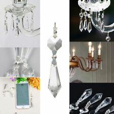 10PCS Kristalle Glas Teile hängende Tropfen Anhänger Kronleuchter Lampe Prismen