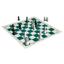 33cm*33cm Vinyl Chessboard Green Portable Chess Game Parts Chess Accessories