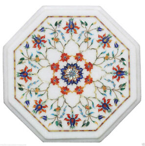 "12"" Marble Coffee Center Table Top Carnelian Inlay Mosaic Giving Tuesday Decor"