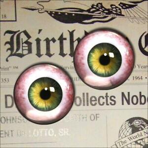 Human Glass Eyeballs Green Taxidermy Realistic Doll Eyes 16mm