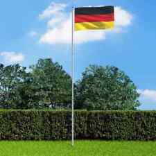More details for vidaxl germany flag and pole aluminium 6m outdoor flag pole halyard pole kit