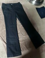 "Boom Boom Women's Flare Jeans Sz 11 34"" W x 40"" L  High Rise Button Up Stretch"