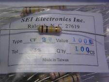 100 SEI Electronics CF2JB100K 100K 2W 5% Carbon Film Resistors