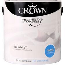 Crown Breatheasy Matt Emulsion 2.5L Sail White