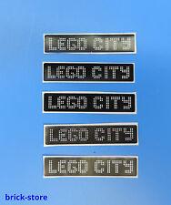 LEGO® (31) Sticker  / Aufkleber 1x4 Eisenbahn Lego City / 5 Stück