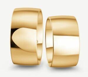 Trauringe Gold 333 - Gelb-, Rot-,oder Weißgold - Poliert - Breite 10mm