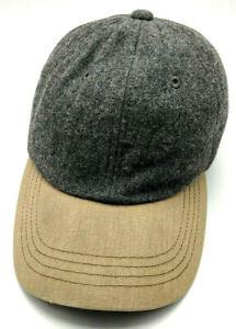 L.L. BEAN hat gray adjustable cap - leather strap