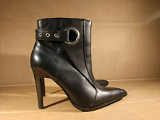Women Harley Davidson Bailey Pointed Toe Black Leather Ankle Booties Boot Sz 7.5