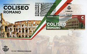 Spain Architecture Stamps 2021 FDC Roman Colosseum Famous Landmarks 1v Set