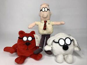 Dilbert, Dogbert, Catbert Plush Dolls by Gund Instant Coworkers