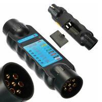 7 Pin Towing Bar Car Trailer Caravan Light Wiring Circuit Plug Tester A7U5