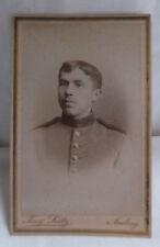 Militaria Cabinet Foto Portrait Soldat um 1900 Amberg
