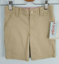 New listing Cat & Jack Girls 5, 12 Plus Khaki School Uniform Bermuda Shorts Adjust. Waist