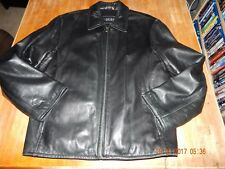 Guess, Men's Medium Black Genuine Leather Coat
