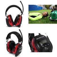 NRR 25dB Phone Stereo Jack Nordstrand Ear Defenders Protection Muffs Headphones AM//FM Radio
