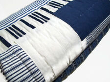 Pottery Barn Multi Color Finch Stripe Patchwork King Cal King Quilt 2 Shams New