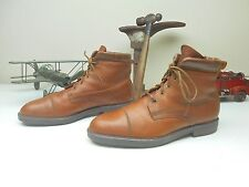 EDDIE BAUER MADE IN ITALY BROWN RUST LEATHER LACE UP BOOTS SIZE 13M