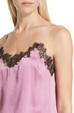 ROBERT RODRIGUEZ Silk Lace Vintage Rose Cami Blouse Tank Top (Size M) NWT $395