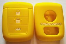 YELLOW SILICONE KEY COVER SUITS HOLDEN REMOTE MALOO SS V8 SV6 VE COMMODORE