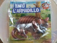 Libro Per Bambini,Tatu' l'armadillo RBA gli animali del mio zoo nuovo sigillato