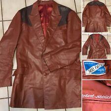 Robert Aldrich MR. OH'S Custom Tailor Leather Western Blazer Jacket Coat Vintage