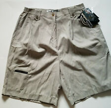 Jamie Sadock Shorts Golf Taupe Casual Hipster Womens Sz 12 Vintage 90s New