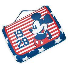 2017 MICKEY MOUSE Disney Store Blanket Americana Picnic Patriotic Fleece Beach