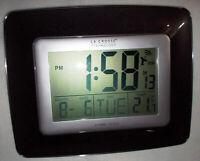 """LA CROSSE TECHNOLOGY DIGITAL Atomic Wall Clock 9.1""""H x 7.1""""W x 1""""D Model # WS808"""