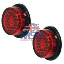 Red Motorcycle Reflector 20mm Round Self Adhesive Stick On **Pair** MOT Legal