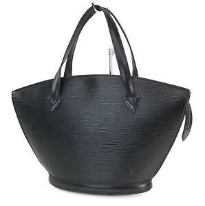 Authentic LOUIS VUITTON Saint Jacques Black Epi Leather Hand Bag Purse #40924