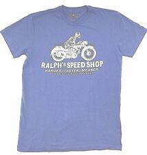 $195 POLO RALPH LAUREN Men BLUE BIKE LOGO BRAND CREW NECK FIT T SHIRT TEE XXL