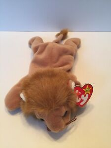 "Ty Beanie Baby ""Roary"" 1996 variations.  New With Tag Pristine."