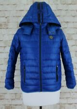 ARMANI JUNIOR Blue Quilted Down Puffer Jacket size 142Cm 10A