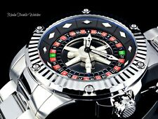 """52MM Invicta Specialty CASINO AUTOMATIC """"Roulette"""" All Silver Bracelet Watch"""