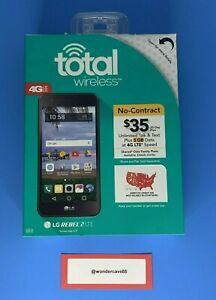 "BRAND NEW LG REBEL 2 LTE 5"" 8GB MEMORY TWLGL58VCP TOTAL WIRELESS BLACK"