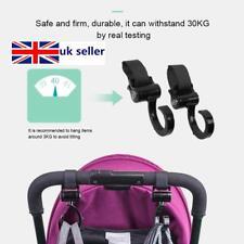 Hook and Stroll Pram Pushchair Buggy Stroller Clips Hooks 2 Pack Happy Mummy