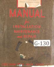 Gisholt Type S Balancing Machine Operators Maintenance Amp Set Up Manual 1951