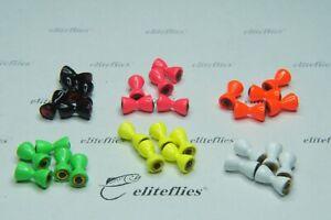 Eliteflies 50 Glo Eyes 3.2mm brass fly tying fishing flies trout lake reservoir