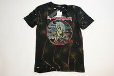 ZARA Iron Maiden Graphic Mens Tee shirt Distressed Ripped Killers Holes Small