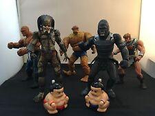 Action Figures - Lot of 7 :Attar ; Predator ; Thing (2); HeMan; Sumo Wind Up (2)