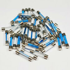 25  x 2 Amp Glass Fuse 2A Amps 6x30mm Quick Blow Fuses - A 6 x 30mm