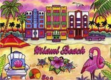 """MIAMI BEACH FLORIDA FRIDGE COLLECTOR'S SOUVENIR MAGNET 2.5"""" X 3.5"""""""