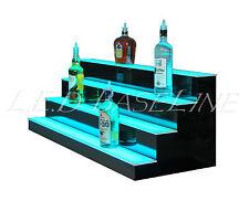 """50"""" LED BAR SHELVES, Four Steps, Lighted Bar Shelf, Liquor Bottle Display Rack"""