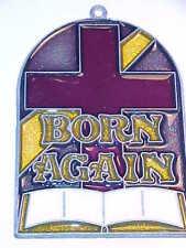 SUNCATCHER -  CROSS WITH BORN AGAIN