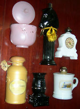 Vintage Avon Bottle/Decanter Lot - 6 mixed items - Pony Post Decanter, Pot Belly