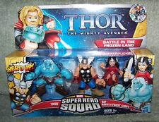 SUPER HERO SQUAD THOR BATTLE IN THE FROZEN LAND SET ICE GIANT, THOR & LADY SIF