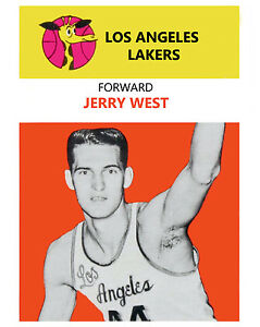 Jerry West - 8x10 Color Photo of his Rookie Year Card